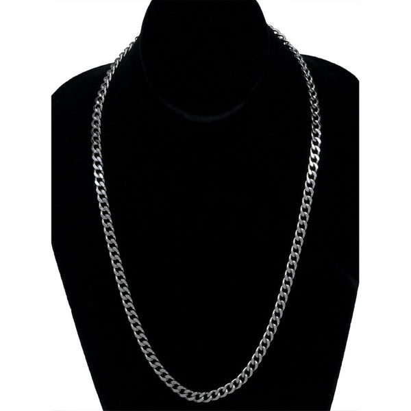 Jewelry - 7mm Stainless Steel Curb Chain Necklace