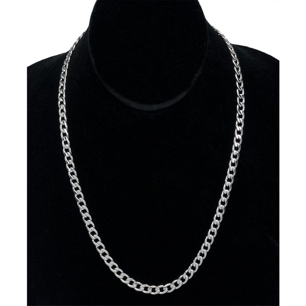 7mm Stainless Steel Curb Chain Necklace