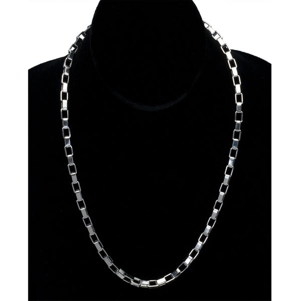 5mm Stainless Steel Boxchain Necklace