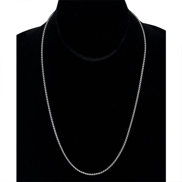 1.75mm Stainless Steel Serpentine Chain Necklace