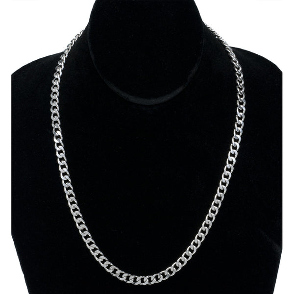 6mm Stainless Steel Curb Chain Necklace