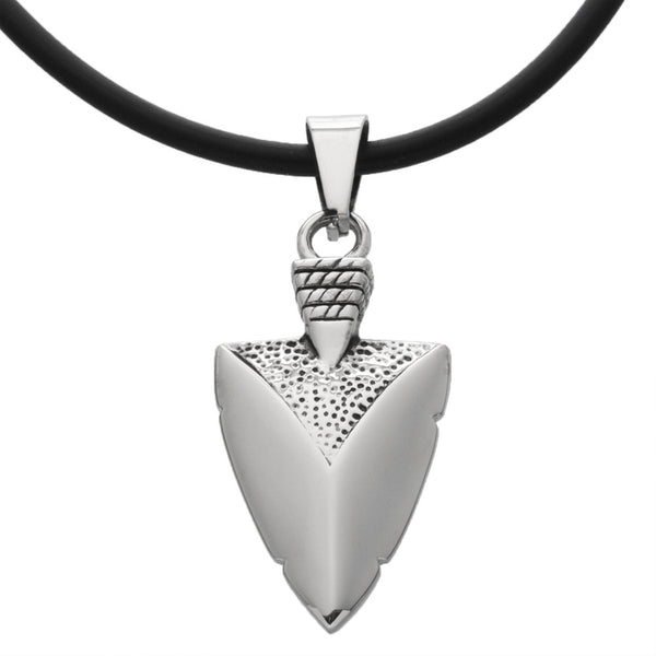 Arrowhead Stainless Steel Pendant Cord Necklace 20