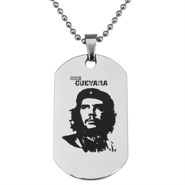 Che Guevara Stainless Steel Dog Tag Ball Chain Necklace