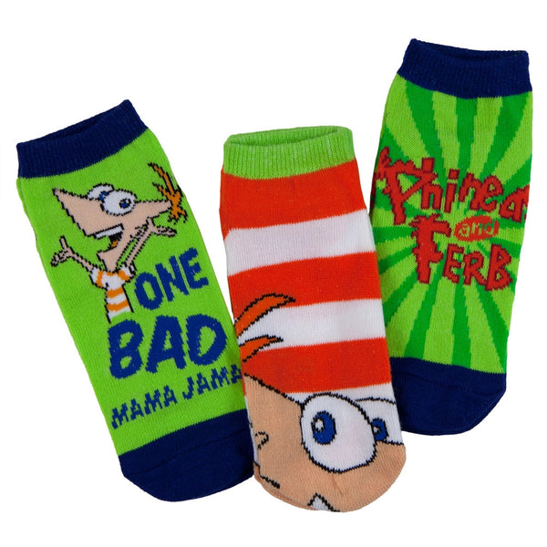 Phineas and Ferb - Bad Mama Jama Kids Boys Socks 3-Pack