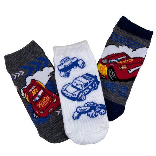Cars - Boomph Boys' Ankle Socks 3-Pack