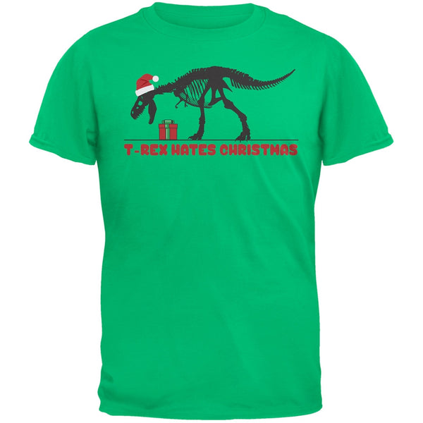 T-Rex Hates Christmas Presents Green Youth T-Shirt