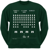 Classic Arcade Game Ugly Christmas Sweater Black Crew Neck Sweatshirt