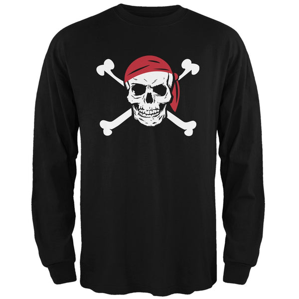 Jolly Roger Black Adult Long Sleeve T-Shirt