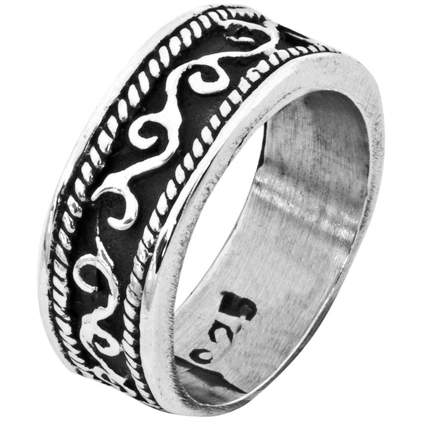 Scroll Work Sterling Silver Ring