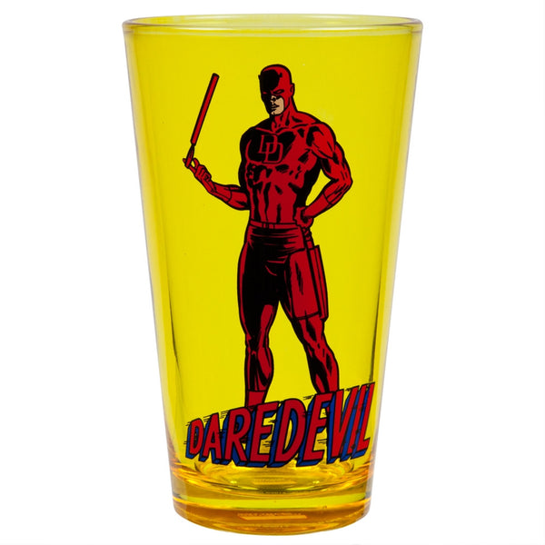 Daredevil - Pose And Logo Pint Glass