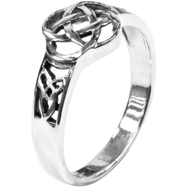 Cut-out Celtic Knot Sterling Silver Ring