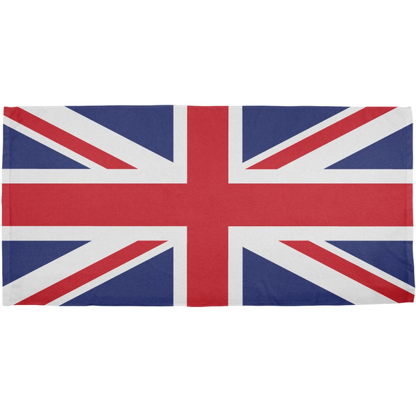 British Flag All Over Bath Towel