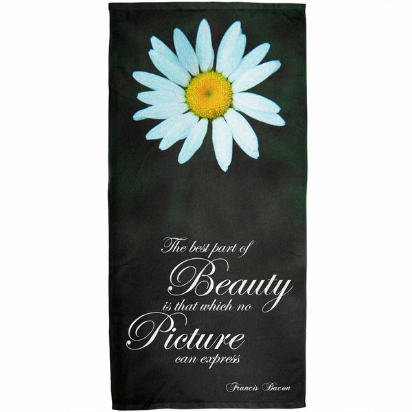 Beauty Picture Quote All Over Bath Towel