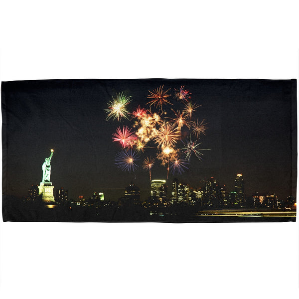 Liberty New York Fireworks All Over Bath Towel
