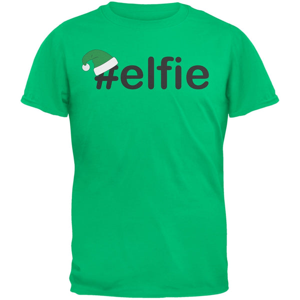 #Elfie Christmas Hashtag Green Youth T-Shirt