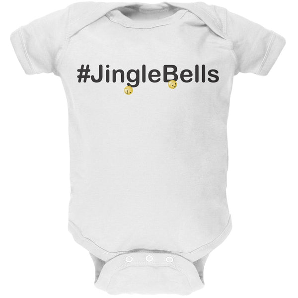 #Jinglebells Christmas Hashtag Green Soft Baby One Piece
