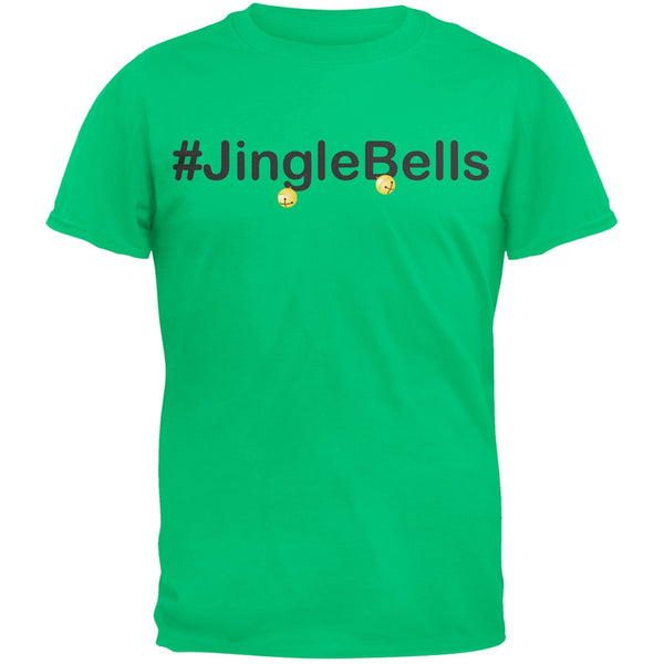 #Jinglebells Christmas Hashtag Green Adult T-Shirt
