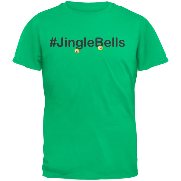 #Jinglebells Christmas Hashtag Green Youth T-Shirt