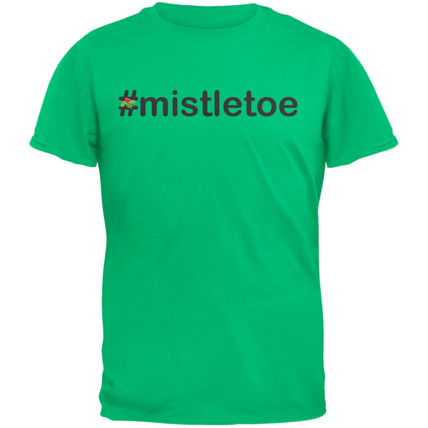 #Mistletoe Christmas Hashtag Green Youth T-Shirt