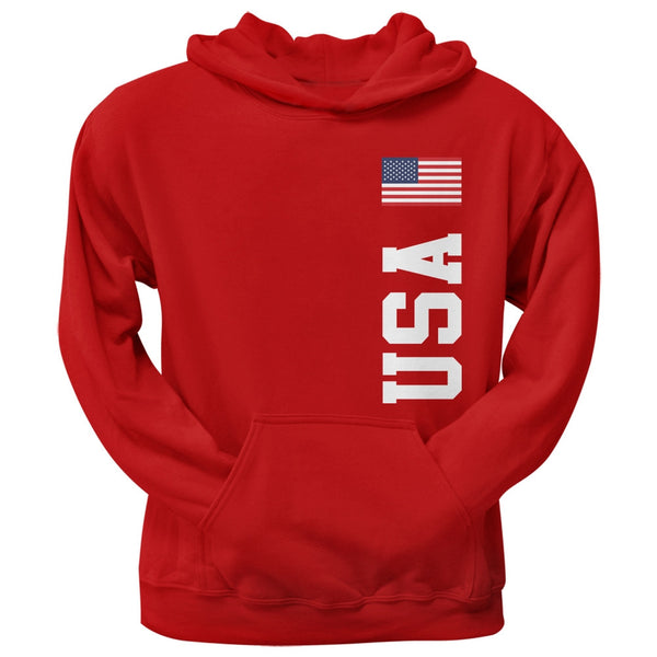 World Cup USA Red Adult Pullover Hoodie