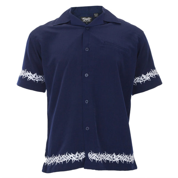 Embroidered Tribal Thorns Club Shirt