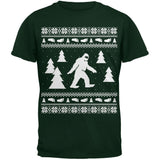 Sasquatch Ugly Christmas Sweater Green Adult T-Shirt