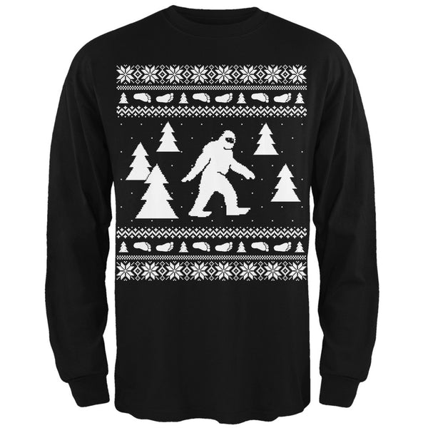 Sasquatch Ugly Christmas Sweater Green Long Sleeve T-Shirt