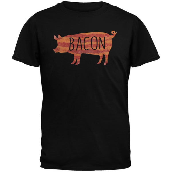 Bacon Pig Silhouette Black Youth T-Shirt