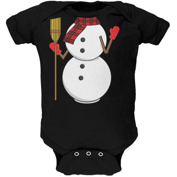 Snowman Body Costume Black Baby One Piece