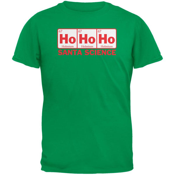 Santa Science Periodic Table Green Adult T-Shirt
