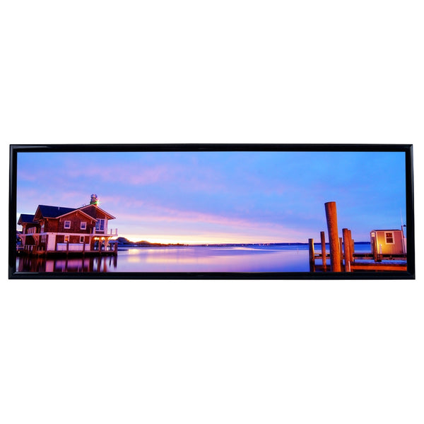 Lake House Sunset Photo Horizontal Framed Print James Crouch