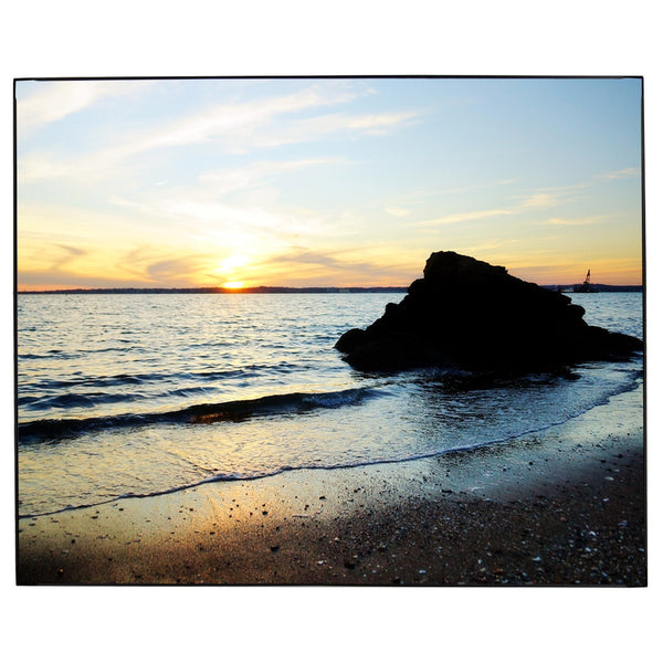 New England Beach Rock Sunset Photo Framed Wall Art James Crouch