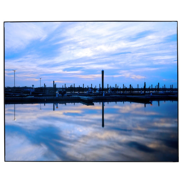 New England Marina Sunset Photo Framed Wall Art James Crouch