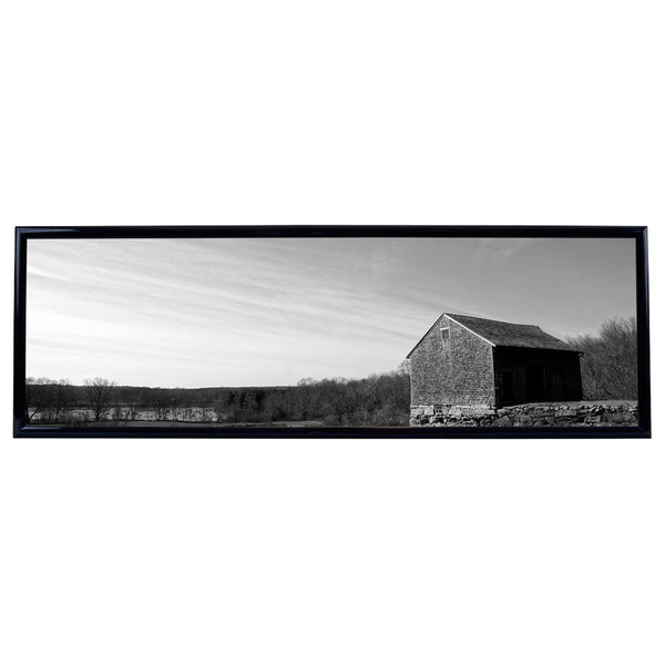 New England Farm Black and White Photo Horizontal Framed Print James Crouch