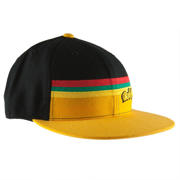 Bob Marley - Yellow Rasta Stripe Fitted Cap