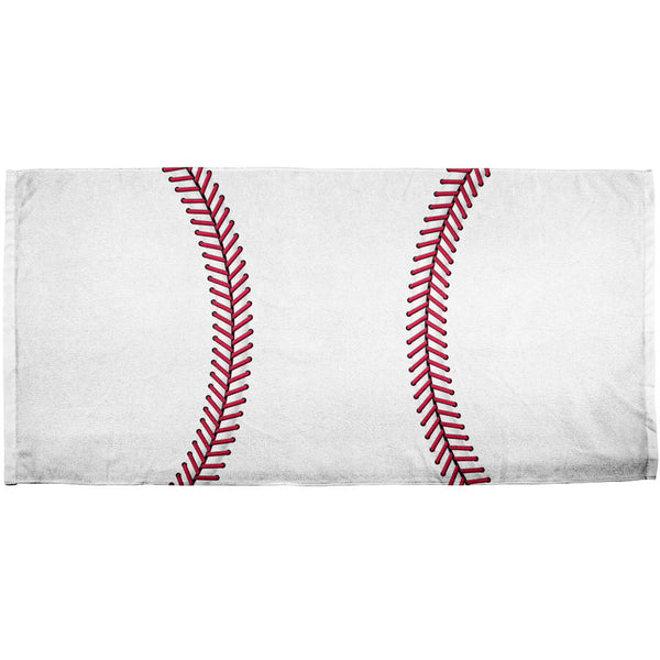 Baseball All Over Bath Towel