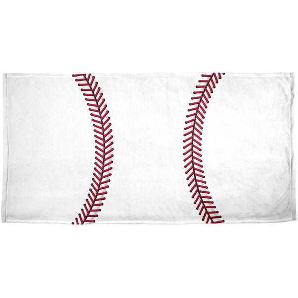 Baseball All Over Beach Towel