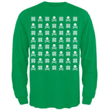 Skull And Crossbones Snowflake Ugly Christmas Sweater Black Adult Long Sleeve T-Shirt