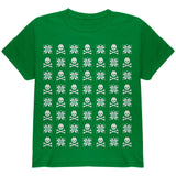 Skull And Crossbones Snowflake Ugly Christmas Sweater Black Youth T-Shirt