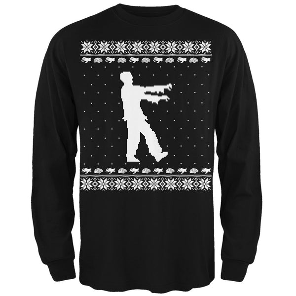 Big Zombie Ugly XMAS Sweater Forest Adult Long Sleeve T-Shirt