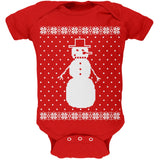 Big Snowman Ugly Christmas Sweater Black Soft Baby One Piece