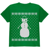 Big Snowman Ugly Christmas Sweater Black Youth T-Shirt