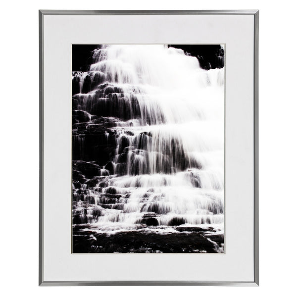 Waterfall Ricketts Glen Pennsylvania Black & White Jay El 16x20 Silver Wall Art