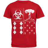 Biohazard Festive Blocks Ugly Christmas Sweater Black Youth T-Shirt