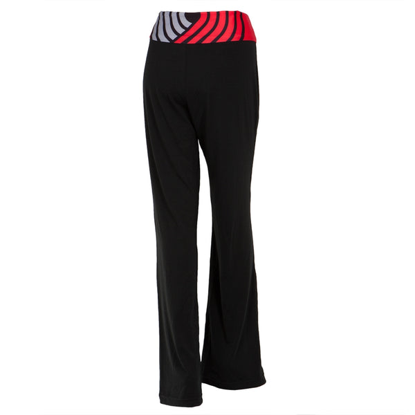 Portland Trail Blazers - Flip Down Waistband Logo Juniors Yoga Pants