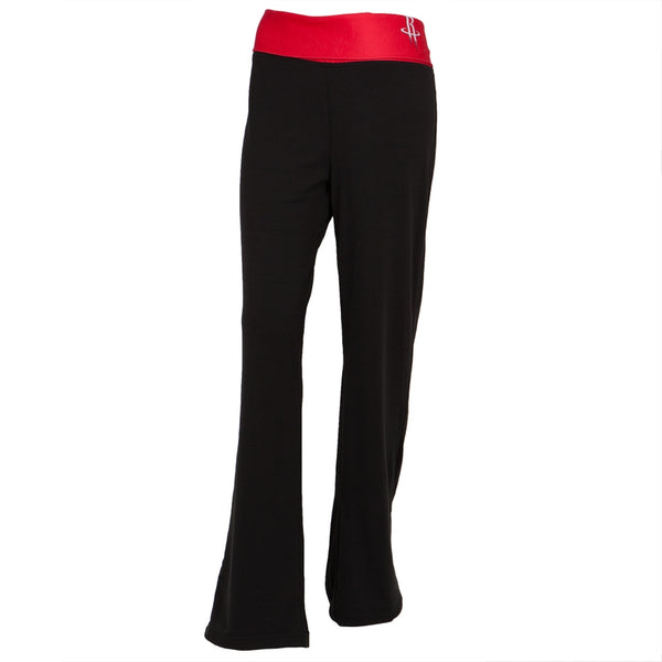 Houston Rockets - Flip Down Waistband Logo Juniors Yoga Pants