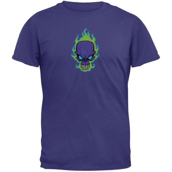 Purple Flame Skull - T-Shirt