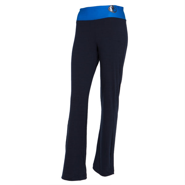 Dallas Mavericks - Flip Down Waistband Logo Juniors Yoga Pants