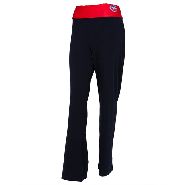 Detroit Pistons - Flip Down Waistband Logo Juniors Yoga Pants