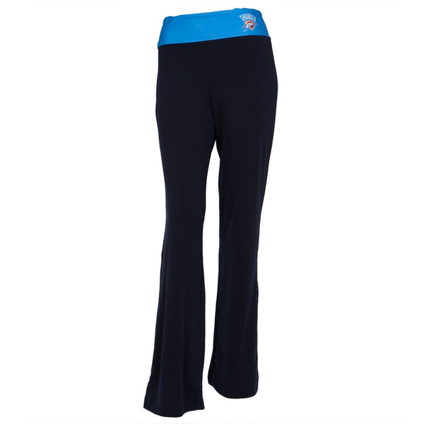Oklahoma City Thunder - Flip Down Waistband Logo Juniors Yoga Pants